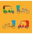 Indian rickshaw Auto rickshaw and pedicab vector image