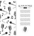 karaoke club brochure design - musical banner with vector image