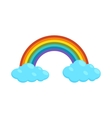 Rainbow and clouds icon cartoon style vector image