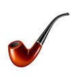 smoke pipe isolated on white vector image
