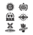 vintage craft beer logos vector image