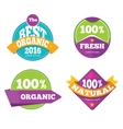 Colorful organic fresh natural labels set vector image vector image