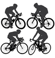 Cycling Silhouette vector image vector image