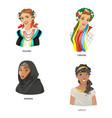 digital funny cartoon arabian vector image vector image