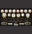 luxury gold and silver design elements collection vector image