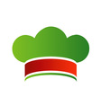 Chef hat with colors of Italian flag vector image