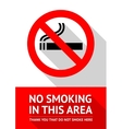 No smoking sticker flat design vector image