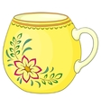 cup with a pattern vector image vector image