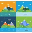 Set landscape vector image