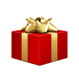 big red gift box vector image vector image