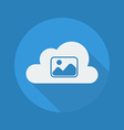 Cloud Computing Flat Icon Photos vector image