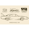 American classic muscle car silhouettes logo vector image