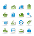 shopping and website icons vector image vector image