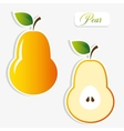 pear stickers vector image vector image