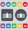 Business center icon sign A set of 12 colored vector image