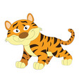 cute orange and brown tiger vector image