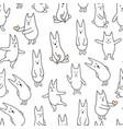 monochrome rabbits vector image