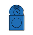 music album cover with vinyl record disk in vector image