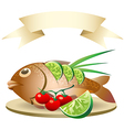 prepared fish vector image