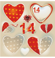 valentines day hearts collection vector image