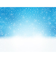 Soft light blue winter background with vector image vector image
