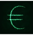 Euro Sign silhouette of lights vector image