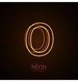 Neon 3D letter O vector image