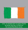 irish flag flat - artistic brush strokes and vector image