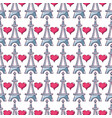 beauty eiffel tower and heart background design vector image