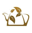 Brown teapot with tea leaves vector image