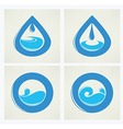 water elements vector image