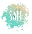 Blue Sale Poster vector image vector image