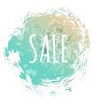 Blue Sale Poster vector image