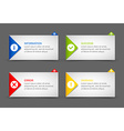 Notification window template vector image vector image