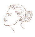 line of a beautiful woman face from profile view vector image