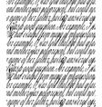 handwritten text vector image vector image