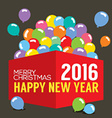 Balloons In The Box 2016 New Year vector image