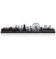 Brighton city skyline silhouette vector image vector image