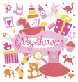 Baby shower print for girl vector image