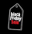 black friday sale design template advertising vector image