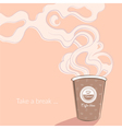 Coffee cup with wonderful aroma vector image