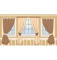 Design of windows in urban apartment vector image