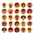 flat african american round avatars on color vector image
