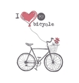 I Love My Bicycle vector image