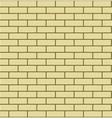 Seamless Pattern of Yellow Brick vector image