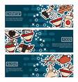 set of horizontal banners about chinese food vector image