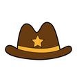 sheriff hat isolated icon vector image