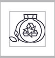 sorted garbage concept thin line icon vector image