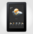 Tablet weather vector image