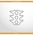 traffic light web flat icon vector image